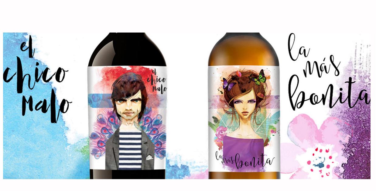 diseño de etiquetas de vino-barrica creativa