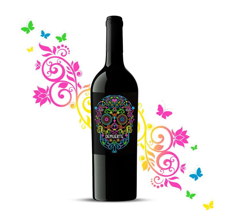 diseño de etiquetas de vino-barrica creativa-demuerte