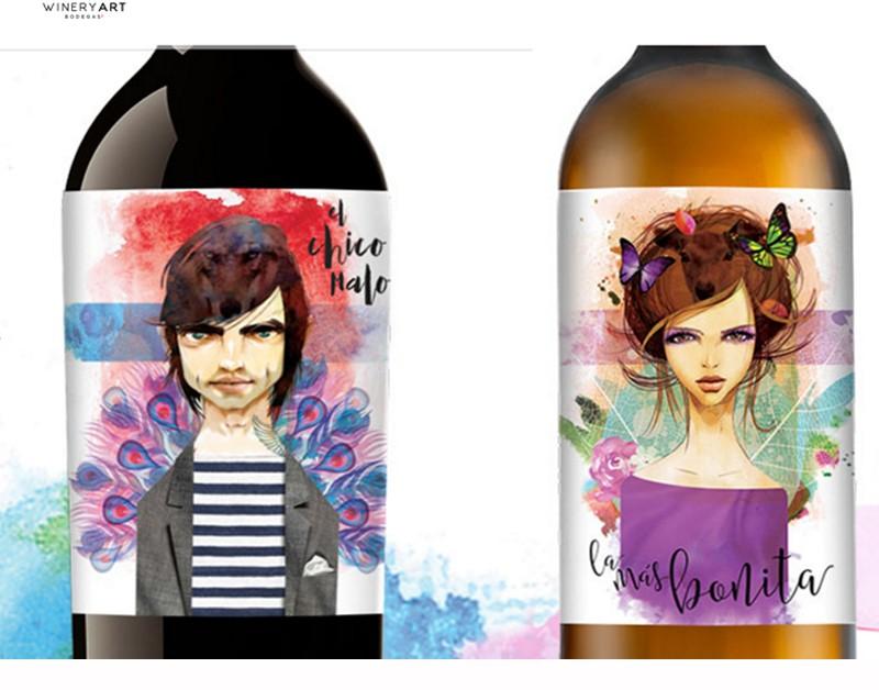 Diseño de etiquetas de vino atrevidas y originales