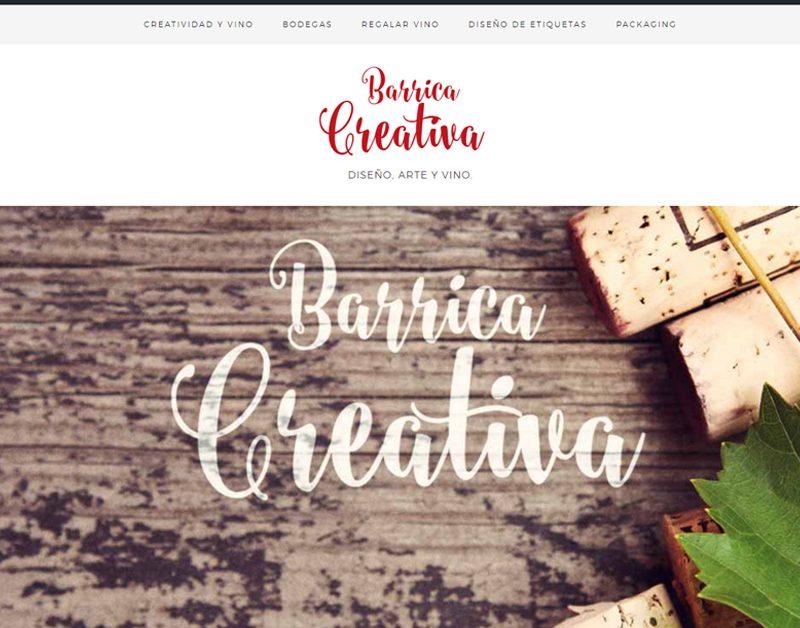 ¡Barrica Creativa candidata en los premios Aragón en la Red al mejor diseño web!