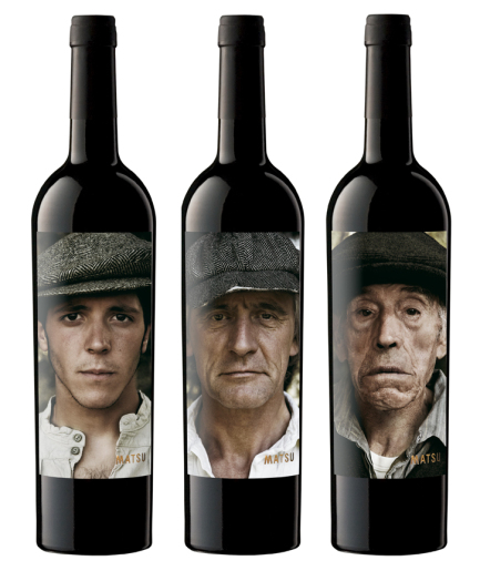 Packaging de Matsu, un vino con historia familiar